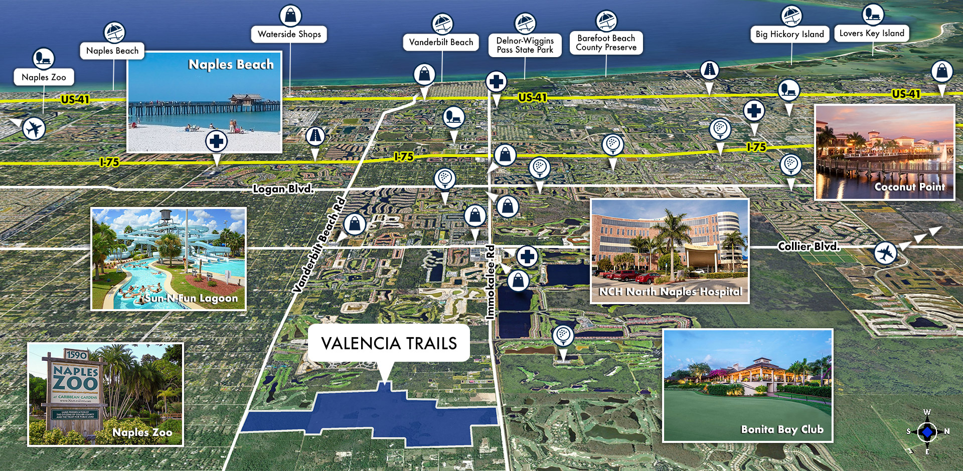 Valencia Trails Area Map